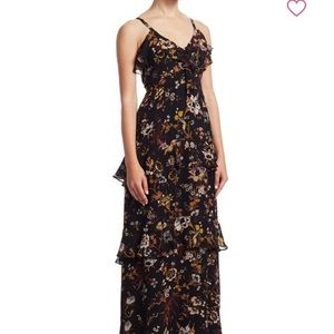 ALC TIERED SILK FLORAL MAXI DRESS NWT